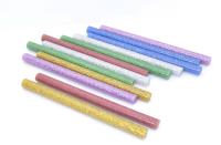 Стержень для клеевого пистолета D=7mm L=100mm цветной с блёстками (12 шт) 09-1025