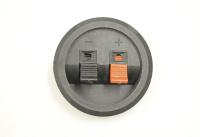 Прищепка аудио двойная круглая D=55mm 1-715