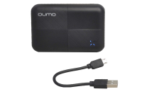 30717 Портативное зарядное устройство Qumo PowerAid S6000 6000mA-ч 2USB 1A+2A