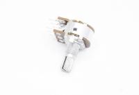 Резистор переменный 6pin(3+3) B20K d=16mm L=15mm стерео (с рифлением + шлиц)