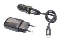Набор 3 in 1 (сетевое з/у, автомобильное з/у, кабель) BlackBerry 9700 Premium Micro - 5332
