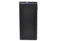 23739 Портативное зарядное устройство XO PB-040 10000mA-ч, металл, черное