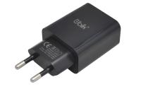 UHS22B Сетевое зарядное устройство UBIK  2USB, 2A, черный