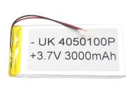 00-00015999 Аккумулятор 3.7V 3000mAh 4.0x50x100mm универсальный с проводками