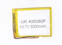 00-00016011 Аккумулятор 3.7V 3000mAh 4.0x60x80mm универсальный с проводками