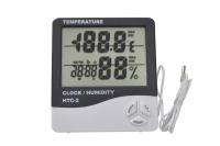 HTC-2 Термометр комнатный с влажностью и часами