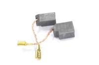 1560002990 Электроугольная щетка 6,4х10х13,4, Скос, поводок клемма-мама, отстрел подходит для DeWalt DW 130/133 №469