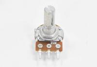 Резистор переменный 3pin B50K d=16mm L=20mm моно (с рифлением + шлиц)