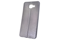 """Чехол """"хром кожа шов"""" Samsung Galaxy A510 (черный) 00-145"""