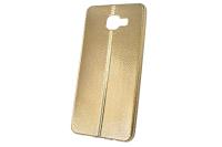 """Чехол """"хром кожа шов"""" Samsung Galaxy A710 (золото) 00-147"""