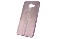 """Чехол """"хром кожа шов"""" Samsung Galaxy A710 (розовый) 00-148"""