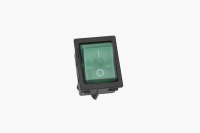 Переключатель KCD4-JK/N On-Off зеленый 250V 16A (4c)