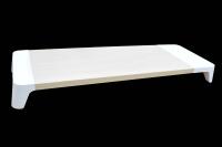 23861 Деревянная подставка с беспроводной зарядкой для монитора, белая