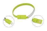 0652529 Кабель-браслет Gmini GM-WDC-300L iPhone, зеленый
