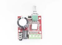 УНЧ на PAM8610 (HW-210) 2х10W, питание 12V (мини Hi-Fi аудио усилитель класса D)