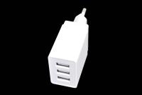 UHS33W Сетевое зарядное устройство UBIK  3USB, 3.4A, белый