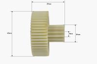 Шестерня Помощница, Д-42/16мм, зубья 50/13шт. (прямой/прямой)