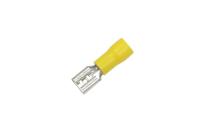 "Клемма плоская ""гн"" 6.3mm желтая FDD5.5-250 08-0451"
