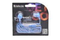 63628 Наушники Defender Basic 618, синие
