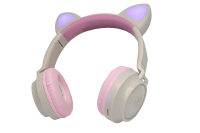 32303 Беспроводные наушники Qumo Party Cat ВТ-0027 бежево-розовые