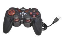 Джойстик Dialog GP-A13 Action, 12 кнопок, USB, вибрация, черно-красный