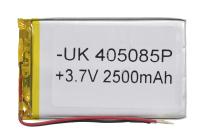 00-00016005 Аккумулятор 3.7V 2500mAh 4.0x50x85mm универсальный с проводками