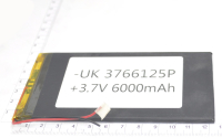 00-00016041 Аккумулятор 3.7V 5000mAh 3.7x66x125mm универсальный с проводками