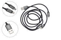 Шнур USB 2.0 AM > microB +  iPhone 5/5S/6/6+/6S/6S+/7/7+ 1.0м №009873