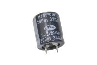 330mkF 200v  85C SAMWHA HJ mini конденсатор