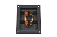 Терминал аудио четверной пластик gold 1-741G