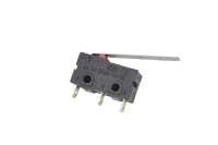 Микропереключатель для СВЧ печей 16mm Mini 3-pin с рычагом 28mm (SIM)