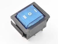 Переключатель SWR-203-1A6 On-Off-On синий 250V 15A (6c)