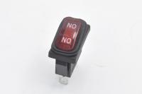 Переключатель SB068 On-On 250V 15A красный (влагозащита) (3c)