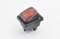 Переключатель SB091 On-On 250V 16A красный (влагозащита) (6c)