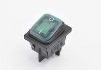 Переключатель SB092 On-Off 250V 15A зеленый (влагозащита) (4c)