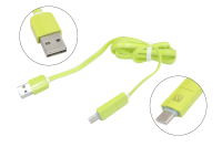 51013 Кабель ACD-Multi USB 2.0 AM--Micro BM+ Type-C, ACD-U914-CMG, 2в1 1.0м зеленый