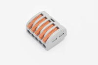 800483 Клеммная колодка СМК-415 с рычагом 5 отверстий 0.08-2.5кв.мм, тип WAGO