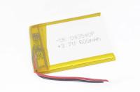 00-00019309 Аккумулятор 3.7V 600mAh 4.0x35x40mm универсальный с проводками